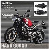 Motocicleta Guardamanos negro Protectores de cepillo de mano Manillar Freno Embrague Protección de carcasa para Kawasaki Z900 ZR900 Yamaha MT FZ 07 09 MT07 FZ07 MT09 FZ09 XSR 900 700 Accesorios