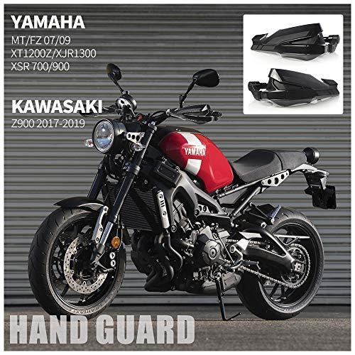 Motocicleta Guardamanos Negro Protectores de Cepillo de Mano