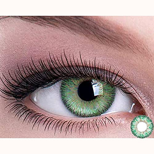 Lu sisters Color Contacts for Eyes Cosplay Party,Cosplay Makeup,Makeup for Party,Cosplay,Halloween, Party Toy。 (Angel Green)