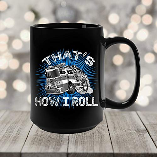 N\A Taza de Bombero Cómo ruedo Taza de café de camión de Bomberos Regalos de Bombero Taza de Bombero Taza de camión de Bomberos