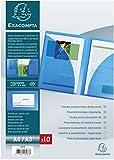 Exacompta 3967E - Cartellina per presentazioni con doppia tasca interna in PP 400µ, forma...