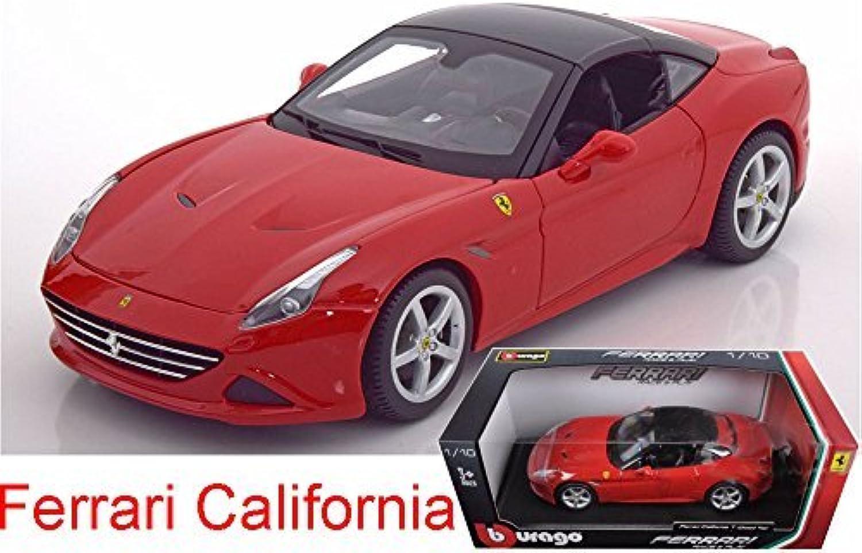 FERRARI CALIFORNIA T (CLOSED TOP) rot 1 18 DIECAST MODEL CAR BY BBURAGO 16003 by Bburago by Bburago