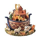 SANYAXIAODONG8 Caja de música para niñas Animal Noah's Ark Modelo Caja de música giratoria Caja de música de Resina de Regalo Creativo Caja de música para niñas Personalizada