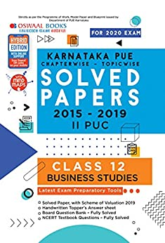 Oswaal Karnataka PUE Solved Papers II PUC Business Studies Chapterwise & Topicwise (For March 2020 Exam) Old Book by [Oswaal Editorial Board]