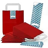 25 rote kleine Papiertüten Papiertasche Geschenktasche 18