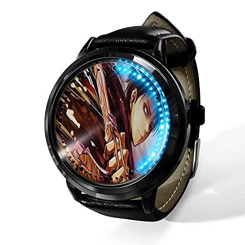 Watch Attack on Titan Reloj con Pantalla táctil Led Resistente al Agua Reloj de Pulsera con luz Digital Unisex Cosplay Regalo Nuevos Relojes de Pulsera niños-A