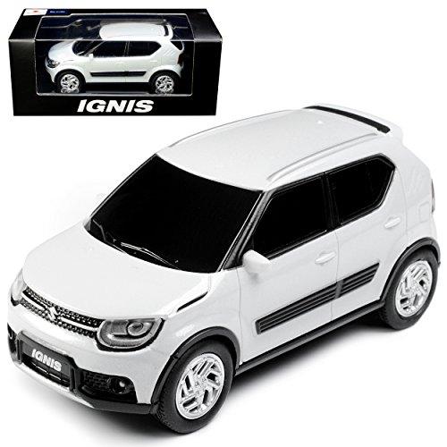 Unbekannt Suzuki Ignis 5 Türer Weiss 3. Generation ab 2017 1/43 Modellcarsonline Modell Auto mit individiuellem Wunschkennzeichen