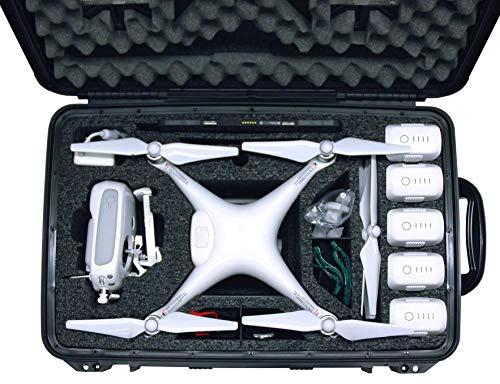Case Club Waterproof DJI Phantom 4 Drone Wheeled Case with Silica Gel (Propellers On)