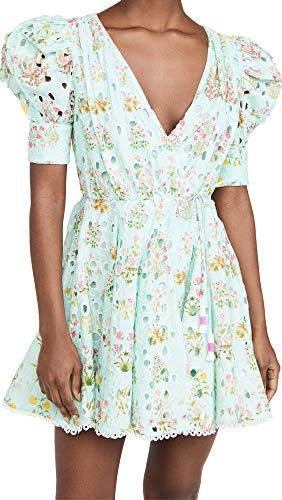 Hemant and Nandita Women's Godget Dress Shorts, Sea Green, Small