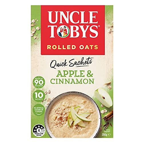 UNCLE TOBYS Oats Quick Sachets Apple & Cinnamon, 10 Sachets