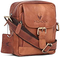 Wildhorn Genuine Vintage Leather Sling bag for men | Everyday Crossbody shoulder Work Sling Messenger Bag(MB209),ADL International,MB209 VINTAGE