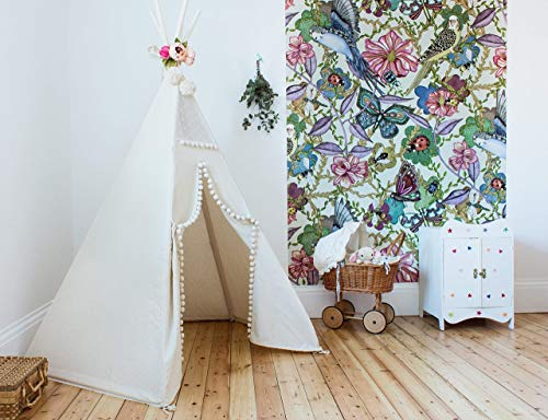 Children teepee with poles teepee tent for kids tent play tent teepee for kids childrens teepee off-white color playhouse!