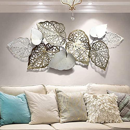 Kreative handgemachte Blätter Wanddeko Metall, Wandskulptur Perfekte Deko für Wohnzimmer Schlafzimmer Büro