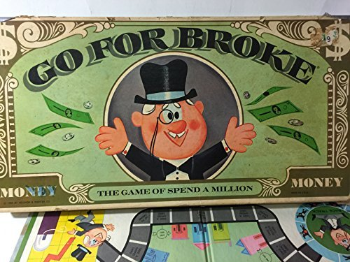 Selchow & Righter Go for Broke~1965 Co.,~The Game of Spend a Million~