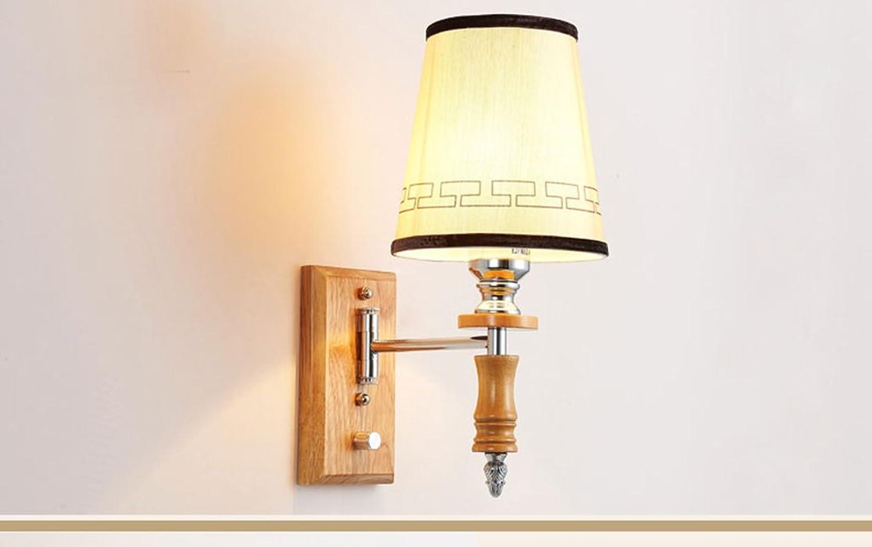 Unbekannt Amerikanische Minimalist LED Wandlampe Wohnzimmer Studie Wandleuchte Eisen Wandlampe Schlafzimmer Nachteinzelkopf-Wandlampe Beleuchtung (Energieeffizienzklasse A +)