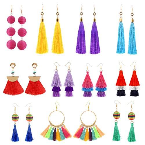 Amazon - 11 Pairs Colorful Tassel Earrings $1.99