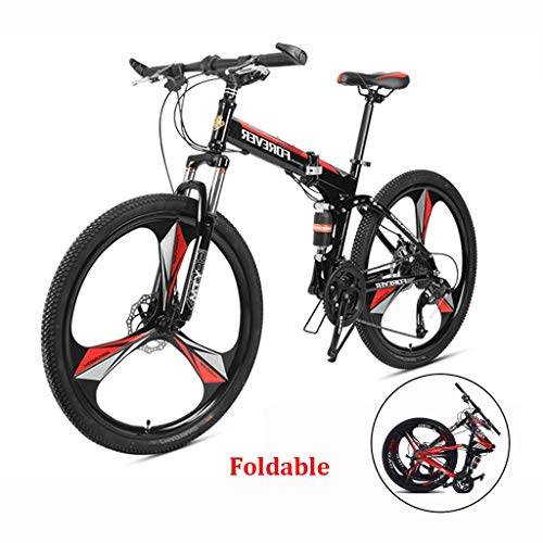 26 Inch Adult Mountain Bike, Aluminum Alloy Big Wheels Mountain Brake, Trail Bike Folding Outroad Bicycles, Outdoor MTB ​​Gears Dual Disc Safty (Color : Black, Size : 27-speeds)