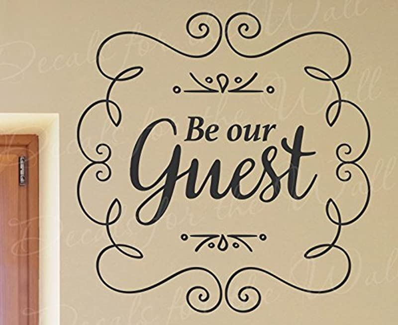 Be Our Guest Home Kitchen Entryway Beauty And The Beast Disney Song Family Kids Decorative Vinyl Wall Decal Lettering Art Decor Quote Design Sticker Saying Decoration