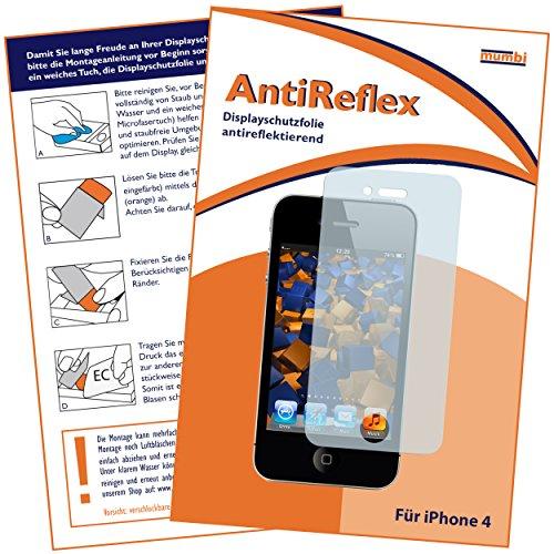 mumbi Schutzfolie kompatibel mit iPhone 4 Folie, iPhone 4s Folie matt, Bildschirmschutzfolie (1x)