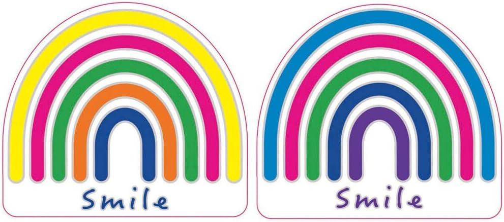 Rainbow Max 77% OFF Smile Sun Catcher Sticker Windows and Elegant for Sunlight Doors