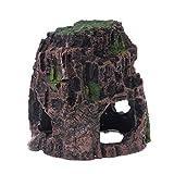fuwahahah - Adorno de Cueva para Acuario, diseño de pez de Roca Marina