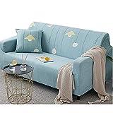 Fundas Bonitas para Sofa Funda de sofá Klippan Cubierta de sofá Sofá de Terciopelo Cubre Cubierta de sofá elástico Elástico sofá Cubre 145-185,Sky Blue