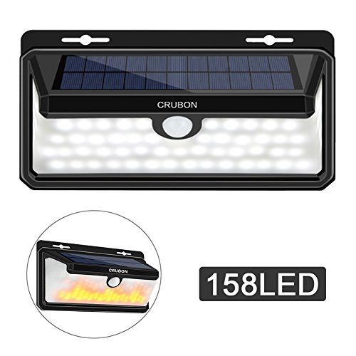 CRUBON New 158 LED Motion Sensor Outdoor Solar Lights 270