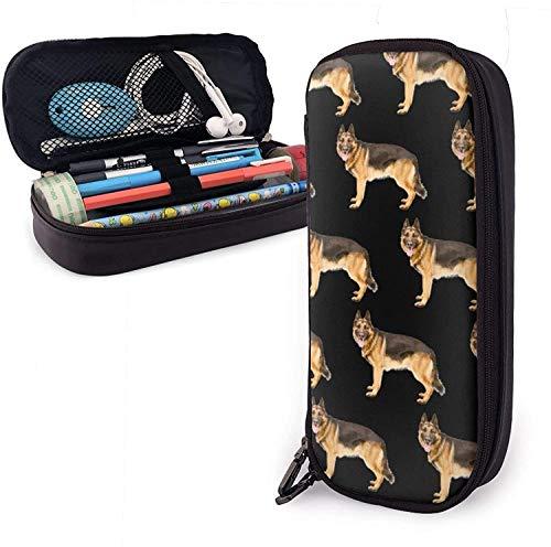 Schreibwarentasche mit Deutschem Schäferhund, strapazierfähig, tragbar, mit Reißverschluss, für Stifte, Bleistifte, Textmarker