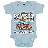 Body bebé ya tenemos otro Rayista más en la familia para aficionado al fútbol de Vallecas - Celeste, Talla única 12 meses
