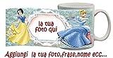 My Cust Tazza Principesse Disney Cenerentola Biancaneve Cartoni Personalizzata con Foto ECC
