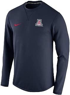 Mens Navy Blue Arizona Wildcats Modern Crew Neck Sweatshirt (Large)