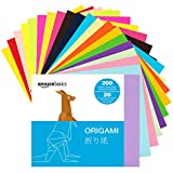 Amazon Basics Origami Paper, Assorted Colors, 200 Sheets