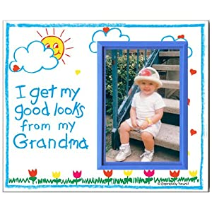 Grandma Picture Frame | Affordable, Colorful and Fun | Holds 3.5 x 5 Photo | Boy or Girl Nursery Decor | Innovative Front-Loading Design | Crayola Theme