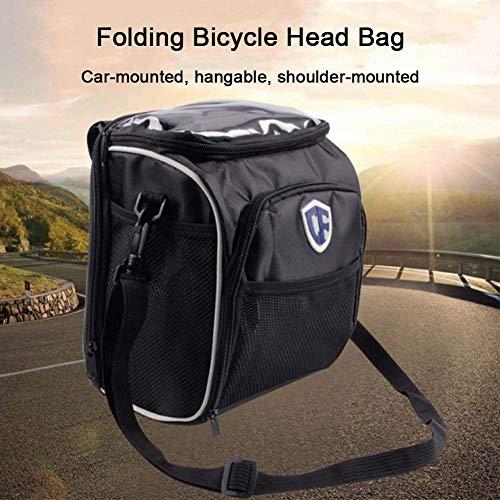 Bolsos Bandolera,SYXX Cabeza de la bicicleta bolsa de almacenamiento, plegable bicicleta bolsa...