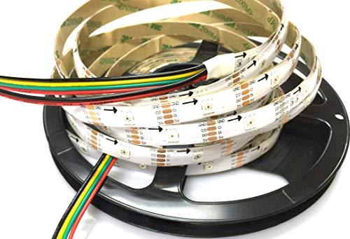 Preisvergleich Produktbild 16.4ft / 5m APA102 LED Streifen-wasserdichte IP65 Farbe,  Die RGB SMD5050 ändert 150 Leds Flexible LED Helles Seil-weißes PWB DC5V
