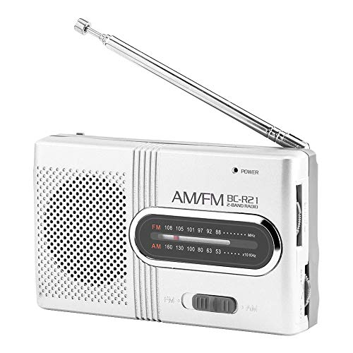 Portable Mini Radio, Universal Am/FM High-Performance Receiver with Earphones Jack, Mini Radio Stereo Speakers Music Player, For Walk/Jogging/Gym/Camping
