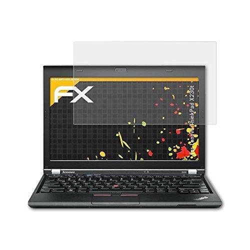 atFolix Panzerfolie kompatibel mit Lenovo ThinkPad X230t Schutzfolie, entspiegelnde und stoßdämpfende FX Folie (2X)