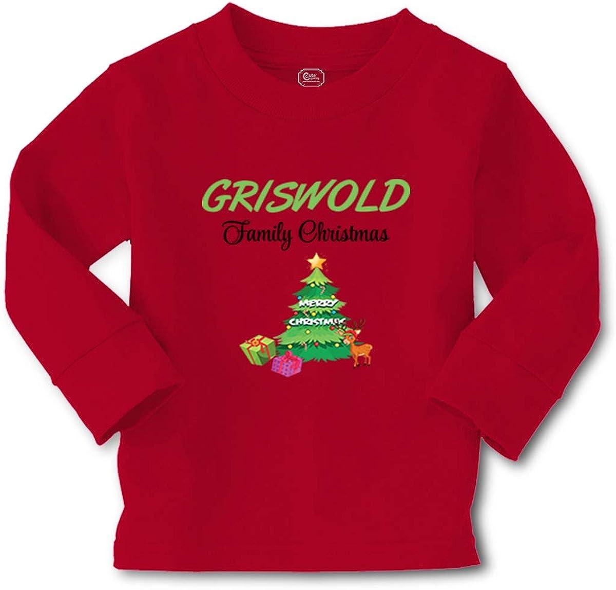Kids Long Sleeve T Shirt Griswold Family Christmas Xmas Style B Santa Cotton