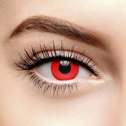 Blutrote Halloween Farbige Kontaktlinsen ohne Stärke (Tageslinsen)