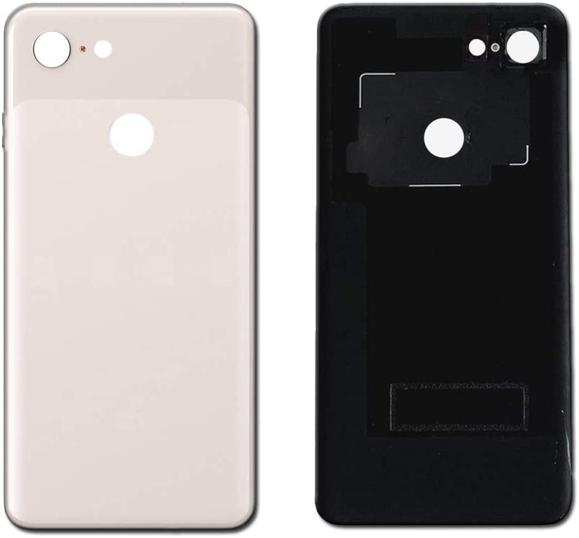 Pink Housing Cover Rear Genuine Battery Glass Cover Door with Adhesive Replacement for Pixel 3