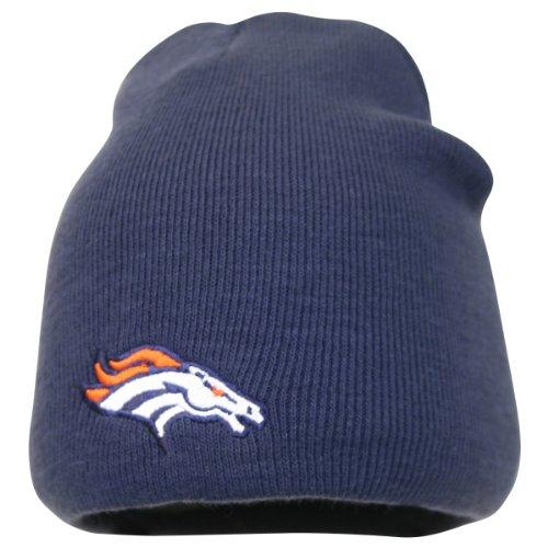 Reebok NFL Cuffless Team Logo Beanie - Football Knit Skull Cap, Herren, Denver Broncos - Navy, Einheitsgröße