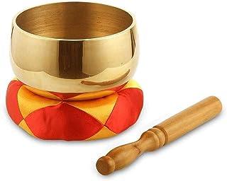 ZOUJUN Copper Bowl Buddha Bowl Practice Bowl Buddhist Singing Bowl Tuned To The 1st Chakra Root Chakra Fine Quality Brass ...