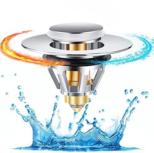 Waschbeckenstöpsel Ablaufgarnitur Waschbecken Universal Abflussstopfen POP UP Badewannenstöpsel Kein Überlauf Stöpsel Waschbecken Ablaufgarnitur Spüle Verschluss Für Spülbecken Badewanne Waschtisch