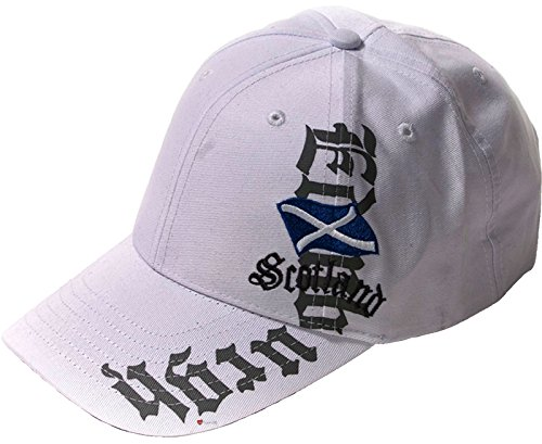 I Luv Ltd Baseball Cap Edinburgh Vertical Cap White Adjustable Strap