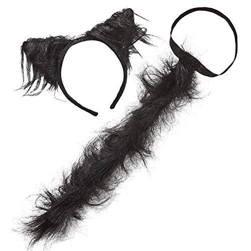 Widmann 11611 11611-Kostümset Katze, Ohren und Schwanz, Tier, Karneval, Mottoparty, Damen, Mehrfarbig