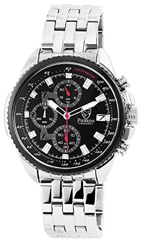 Pierrini Armbanduhr Edelstahlband Chronograph silberfarbig 291021000002