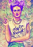 Poster Poster Frida Kahlo Daft Punk Style Wandkunst