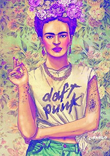Poster Affiche Frida Kahlo Daft Punk Style Wall Art