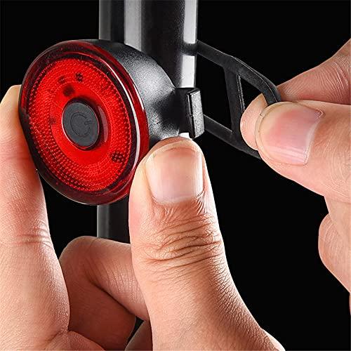 Luz trasera de bicicleta LED, USB recargable intermitente super brillante IPX4 impermeable montaña carretera bicicleta casco mochila emergencia rescate silicona cola luz