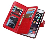 【BRGブランド】財布一体型携帯ケース iPhone6,6s/iPhone6Plus、6sPlus 各種類対応 合成革保護カバー 手帳型 3色 570-0018 (iPhone6/6s, レッド) 570-0018-03A